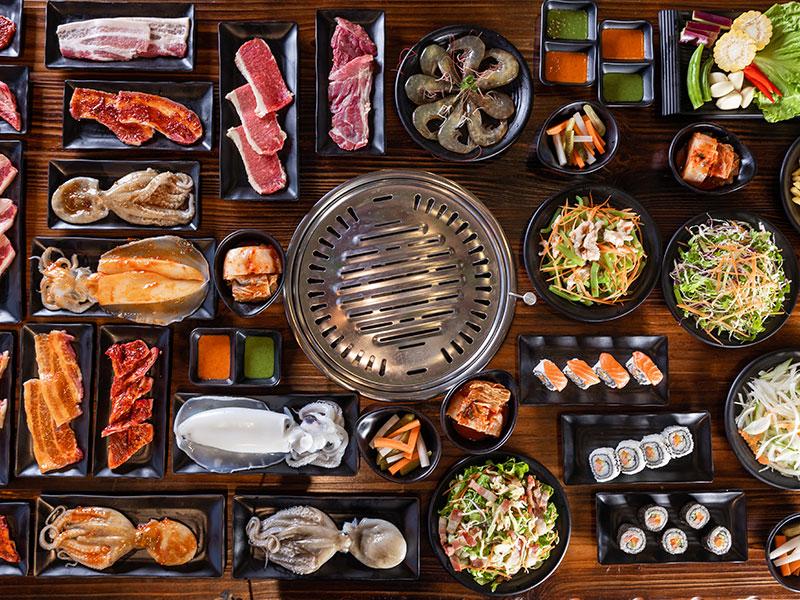 Thưởng thức buffet nướng chuẩn vị tại Nhà hàng buffet nướng Đông Hoa